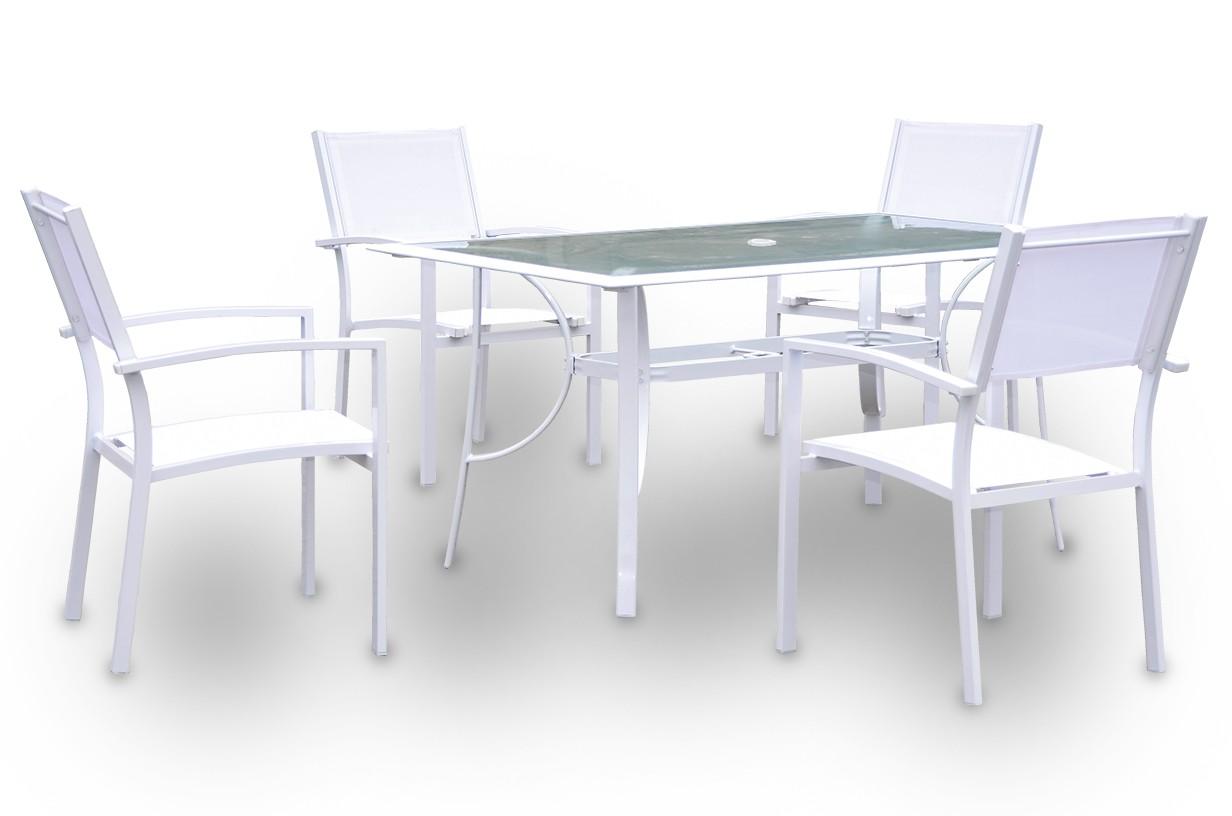 Conjunto mesa rectangular + 4 sillas mod. Casablanca