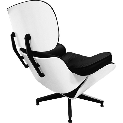 Sillón mod. lounge con otoman BL/NE