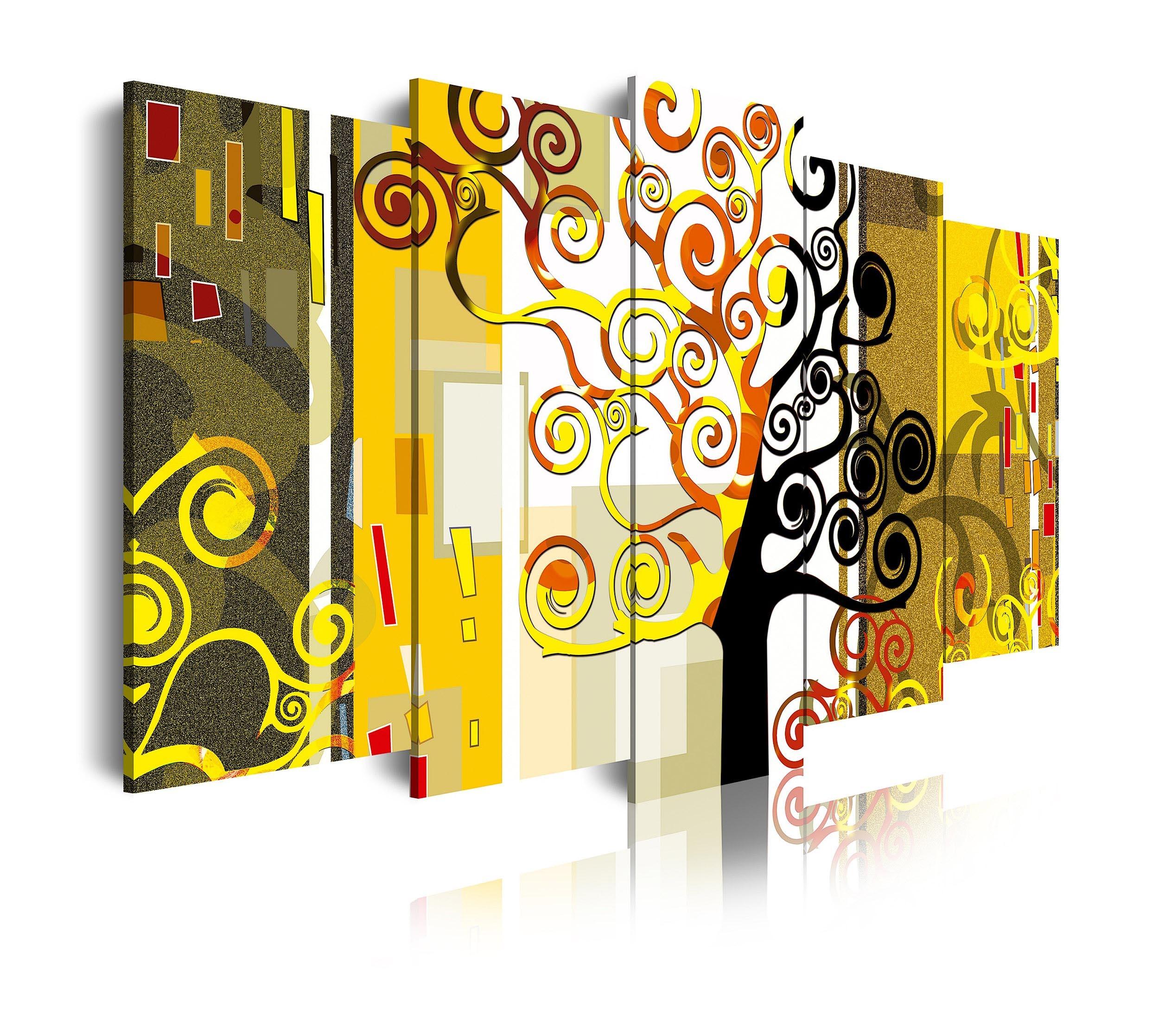 Cuadro de lienzo abstracto árbol de la vi