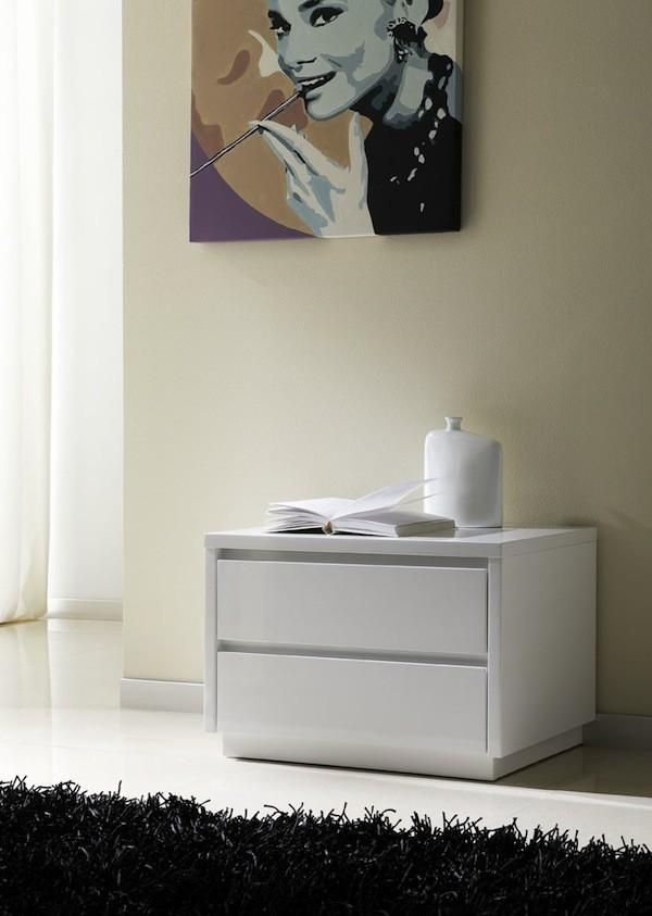 Mesita Para Dormitorio Mod. M-96 Blanco
