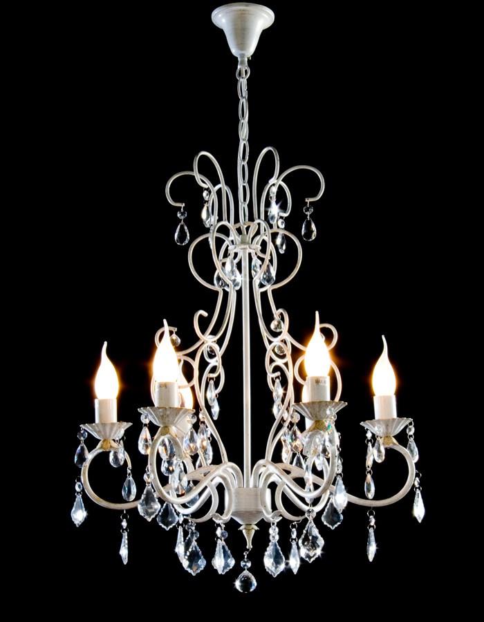 Lámpara Colgante De 6 Luces Mod. Patricia Marrón