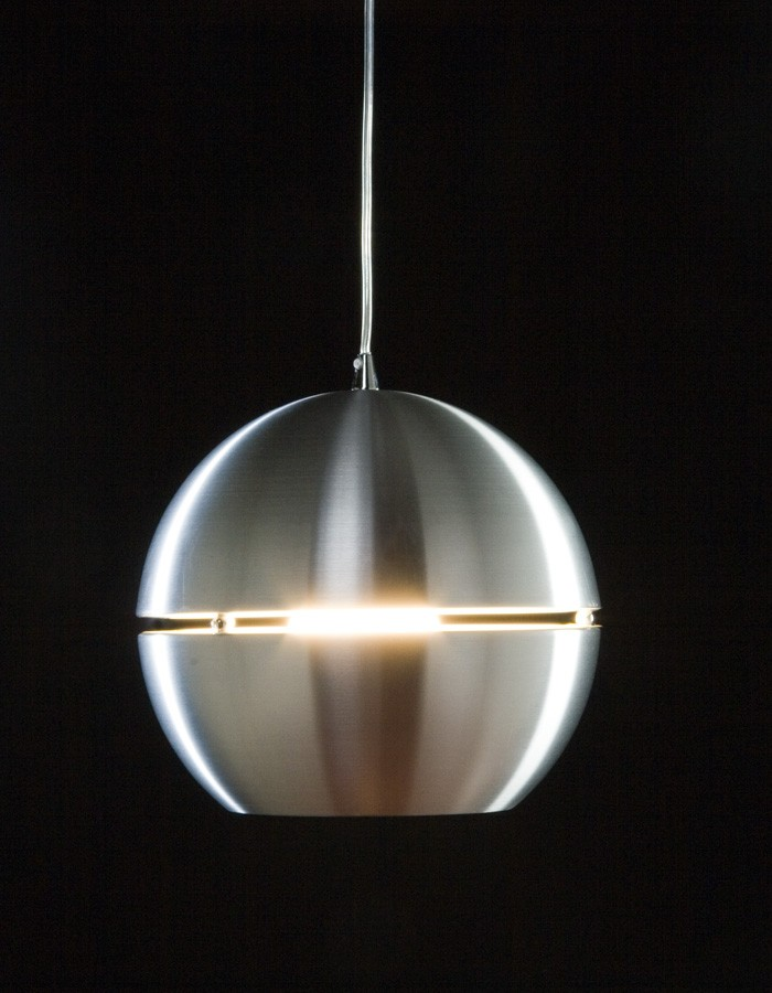 Lámpara Redonda Colgante Mod. Carmen Naranja