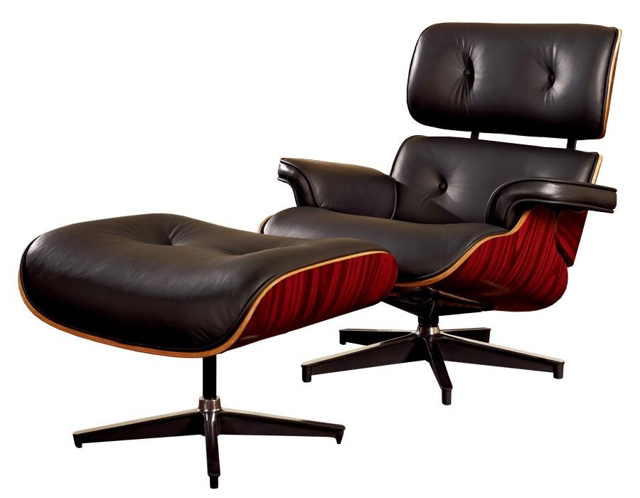 Sillón de relax mod. Lounge con Otoman en negro