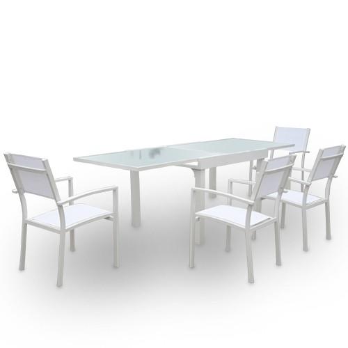 Conjunto mod. Casablanca - mesa extensible+4 sillas