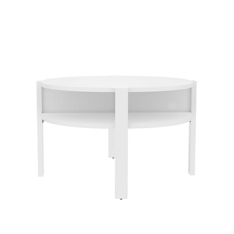 Mesa de centro circular en color blanco mueble kit