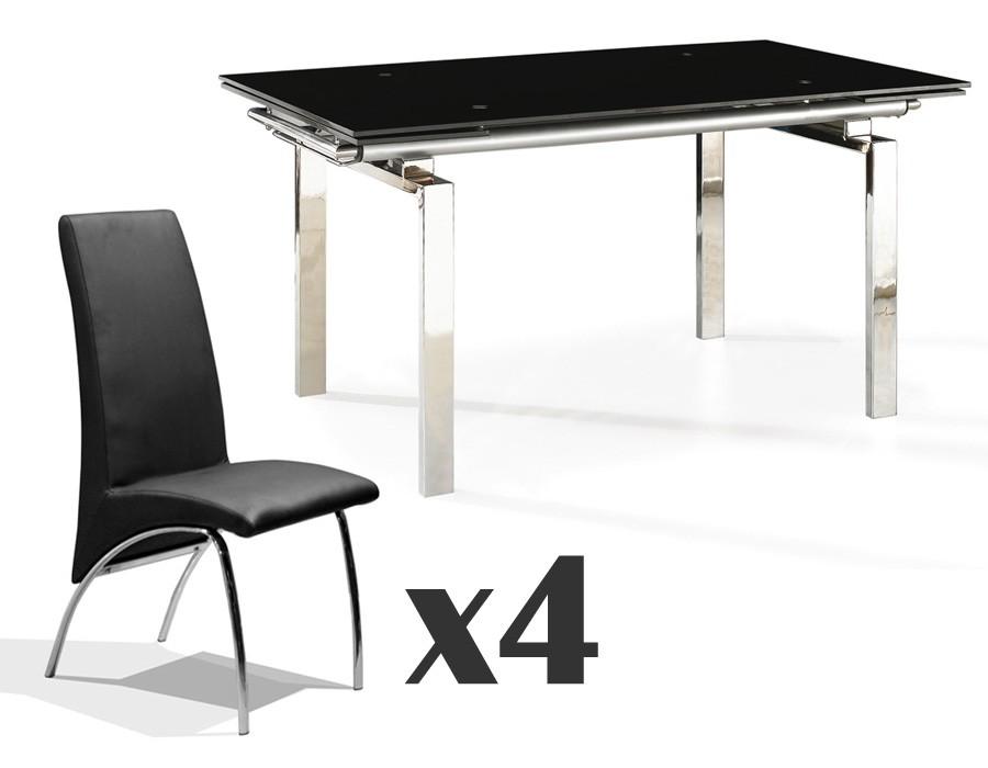 Conjunto de comedor mesa y sillas Osaka-Trevi