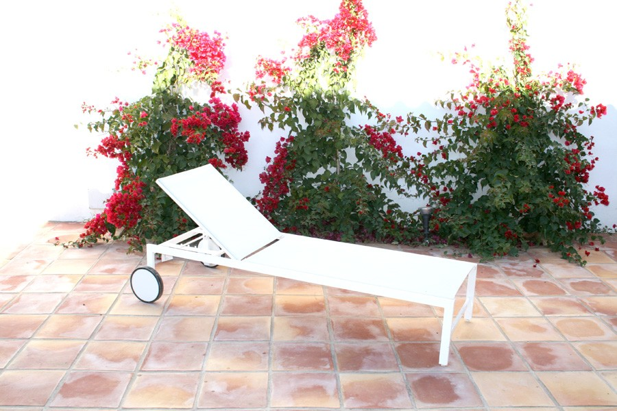Tumbona de jardín mod. Palma Blanco nieve