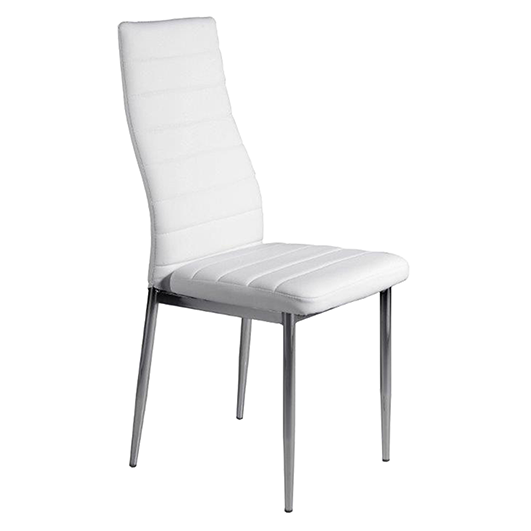 Pack de 6 sillas en polipiel blanca