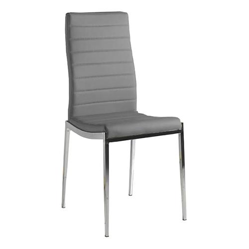 Pack de 4 sillas en polipiel color gris