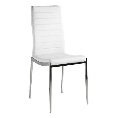 Pack de 4 sillas en polipiel blanca