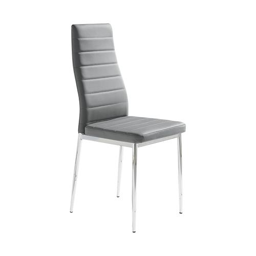 Pack de 6 sillas en polipiel gris