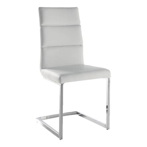 Pack 4 sillas tapizadas en polipiel blanca