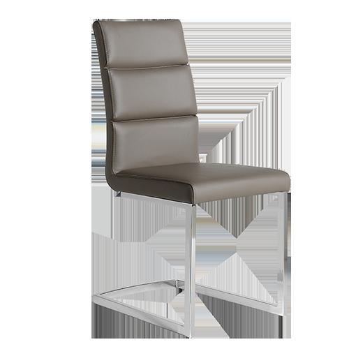 Pack 4 sillas tapizadas en polipiel marrón