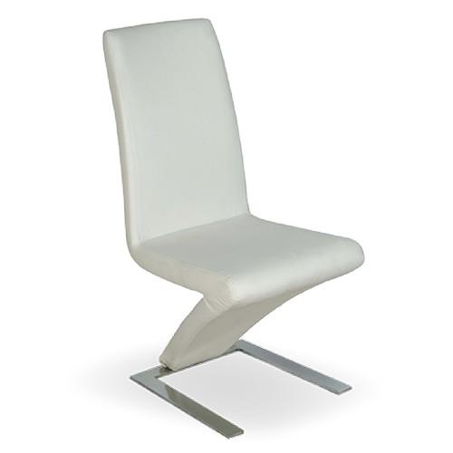 Pack 2 sillas tapizadas en polipiel blanca