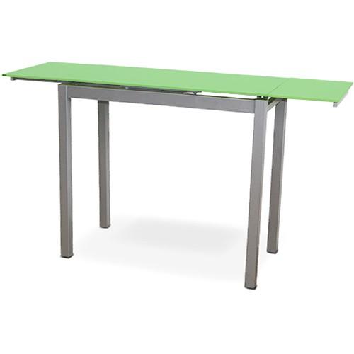 Mesa de cocina extensible estrecha color verde