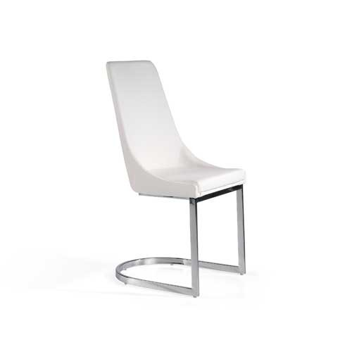 Pack 2 sillas eco piel blanco