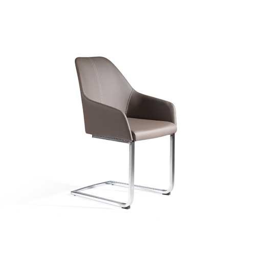 Pack 2 sillas eco piel gris topo