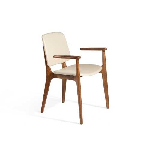 Pack 2 sillas tapizada en ecopiel color arena