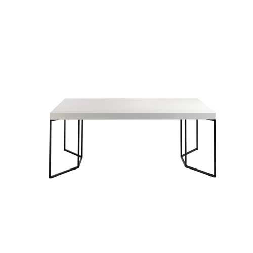 Mesa de comedor en MDF blanca
