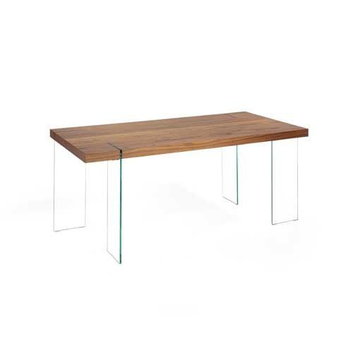 Mesa de comedor en MDF madera nogal