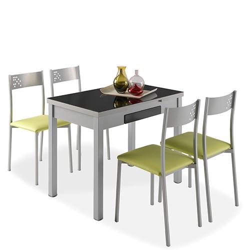 Mesa de cocina Tetra +  4 Sillas Tabarca