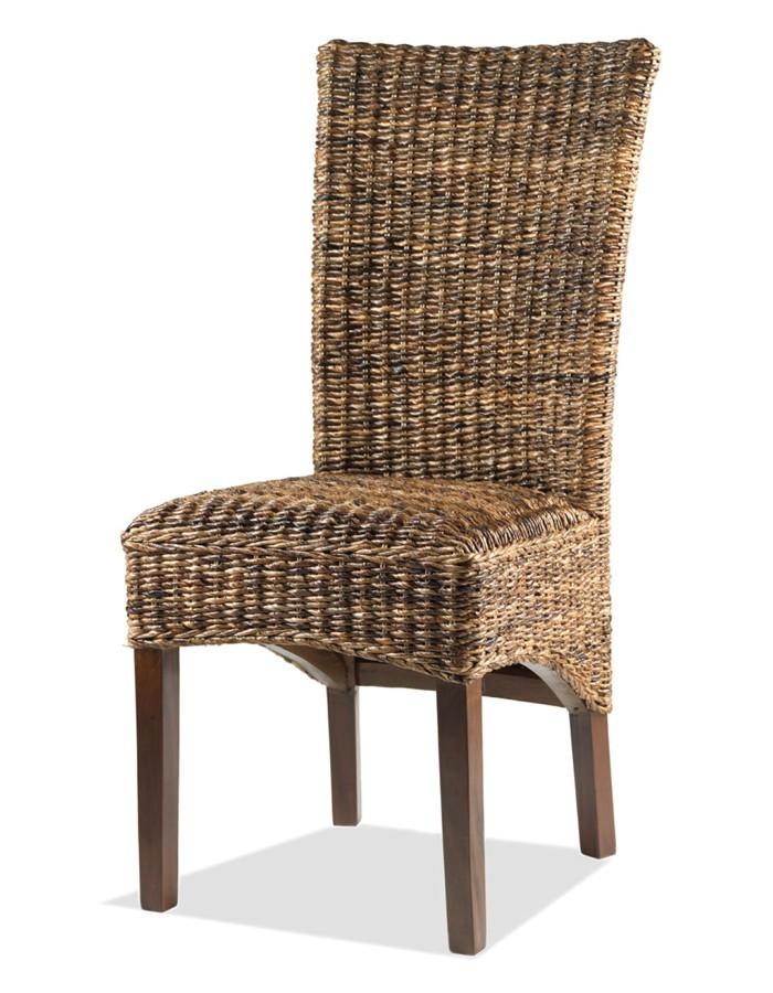 Silla colonial en madera y abaca rope Mod. Kirina