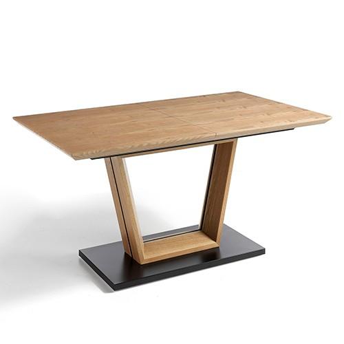 Mesa de comedor extensible en roble