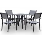 Conjunto de mesa circular + 4 sillas mod. Cairo