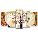 Cuadro de lienzo estilo abstracto árbol de la vi colores