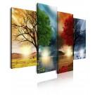 Cuadro de lienzo naturaleza cuatro estaciones 120 cm