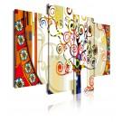 Cuadro de lienzo abstracto árbol de la vi 120 cm