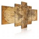 Cuadro de lienzo mapa antiguo
