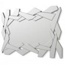 Espejo moderno de pared diseño marco irregular y luna central grande