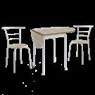 Conjunto de mesa con 2 sillas