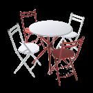 Conjunto de mesa con 4 sillas plegables