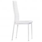 Pack de 4 sillas tapizada en polipiel blanca