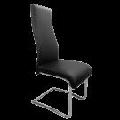 Pack 4 sillas polipiel negra