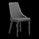 Pack 2 sillas tapizadas en polipiel gris y bordon blanca