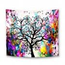 Tapiz moderno de pared en tela poliéster abstracto Árbol De La Vida150 cm
