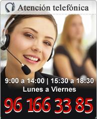 Atención telefónica 96 166 33 85 Más que hogar